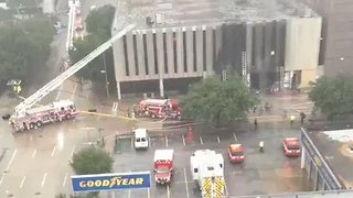 Fire Department, Ambulance Respond to Houston Office Blaze - Video