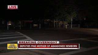Newborn found abandoned near Tampa intersection, mother located - Video