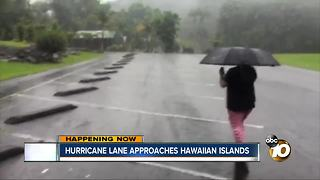 Hurricane Lane approaches Hawaiian Islands