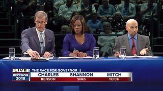 FULL VIDEO: Rewatch the Democratic Gubernatorial debate