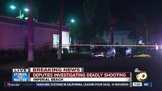 Deputies on scene of shooting at Imperial Beach - Video