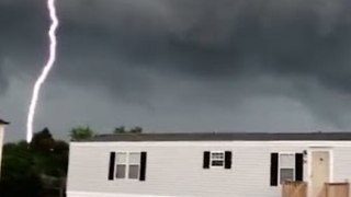 Lightning Almost Strikes Man Filming Storm in North Carolina - Video