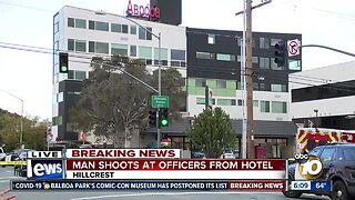 Man shoots at San Diego officers from Hillcrest hotel