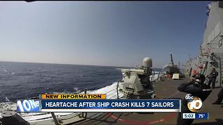 Heartache after ship crash kills 7 sailors