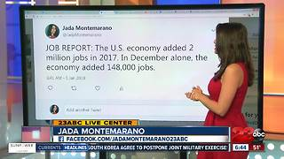 U.S. Economy added 2 million jobs in 2017 - Video