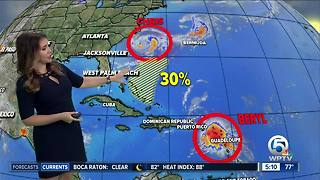 Beryl dissipates, Chris spins off North Carolina coast - Video