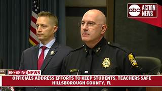 Hillsborough Co. officials address efforts to keep students, teachers safe - Video