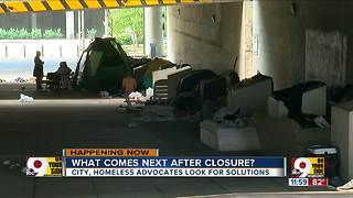 Downtown Cincinnati homeless camp: What comes next after city clears it out? - Video