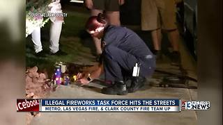 Police hit the streets for fireworks crackdown - Video