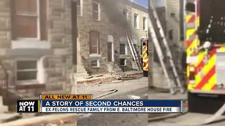 Former offenders save family from burning house - Video