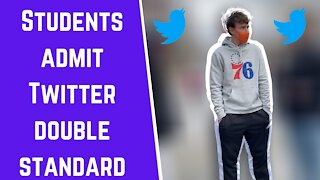 Students admit Twitter double standard when it comes to Trump