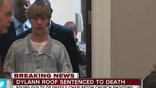Dylann Roof sentenced to death for Charleston church shooting - Video