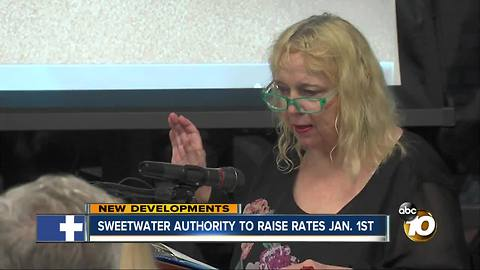 Sweetwater authority to raise rates on January 1st