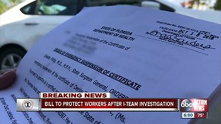 Bill to protect workers after I-Team investigation