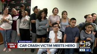 Family says thank you to the man who rescued their son - Video