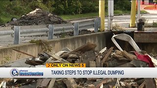 Environmental crimes task force investigating illegal dumping behind former Kmart