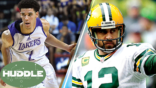 Lonzo Ball Drops a TRIPLE-DOUBLE on the Celtics, Should NFL Players Make More Than NBA? -The Huddle - Video
