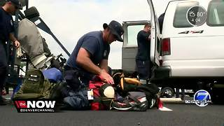 Colorado Task Force One staging in Bryan, Texas during Hurricane Harvey - Video