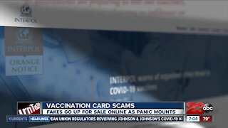 Vaccination card scams, fakes go up for sale online as panic mounts