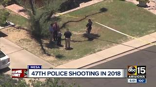 Mesa officer shoots armed man wanted in connection to morning robbery - Video