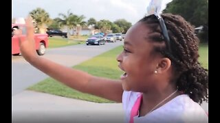 Vero Beach girl gets surprise birthday parade celebration