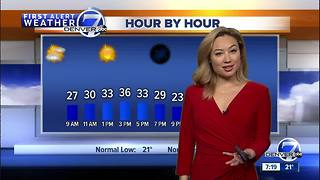 Mostly sunny, windy and cold on Saturday in Denver - Video