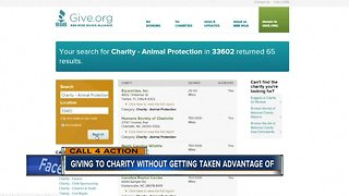 Giving to charity without getting taken advantage of