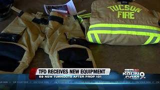 Tucson Fire receive new turnouts after voters approved Prop 101 - Video