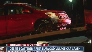 Buffalo police investigating overnight crash in Elmwood Village - Video