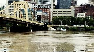 Rain Swells Pittsburgh Rivers, Submerges Riverside Walkway