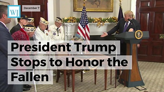 President Trump Stops To Honor The Fallen - Video