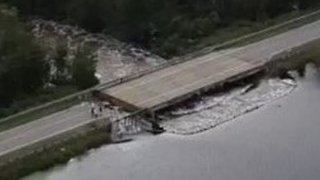 Drone Footage Shows South Carolina Highway Damaged by Hurricane Florence Flooding - Video