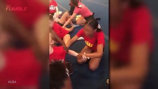 High School Cheerleaders SCREAM While Forced to Do Leg Splits - Video