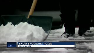 Milwaukee sidewalk snow shoveling reminder - Video