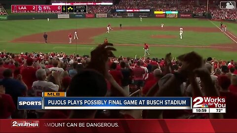 Albert Pujols Possibly Plays Final Game at Busch Stadium
