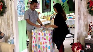 Couple shock guests at gender reveal with twin boys in adorable video clip  - Video