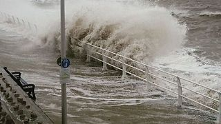 Storm Eleanor Hits Coastal Town of Rhyl