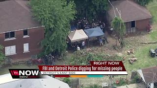 FBI digging in Detroit in connection with missing persons cases - Video