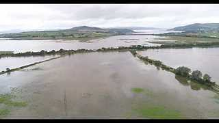 Aerial Footage of Flash Floods in Co. Donegal - Video