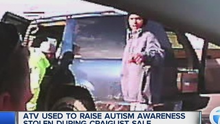 ATV to raise autism awareness stolen in Detroit - Video
