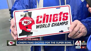 Chiefs fans excited for the Super Bowl