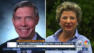 Martin County Commission to hold first meeting since 2 commissioners arrested - Video