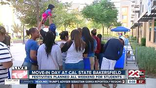 CSUB move-in day welcoming students to the beginning of the school year - Video