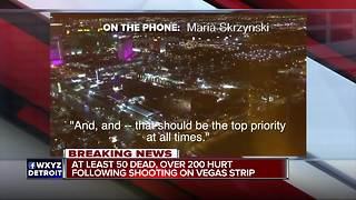 Metro Detroiter in Las Vegas speaks on mass shooting - Video