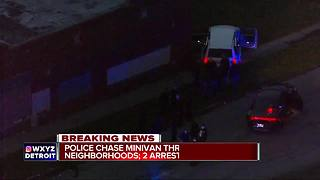 Police chase through northwest Detroit results in crash, two suspects arrested - Video