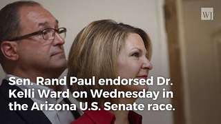 Rand Paul Defies McConnell, Endorses Kelli Ward for Senate - Video