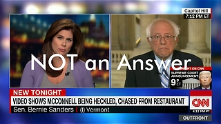 Bernie Won't Answer a Question - Video