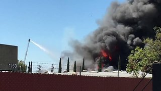 Crews Battle Large Fire at Chemical Supply Shop in Anaheim - Video