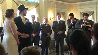 Happy Couple's Friend Gives Heartfelt Reading at Wedding Ceremony - Video