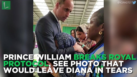 Prince William Breaks Royal Protocol, See Photo That Would Leave Tears Streaming From Diana's Face